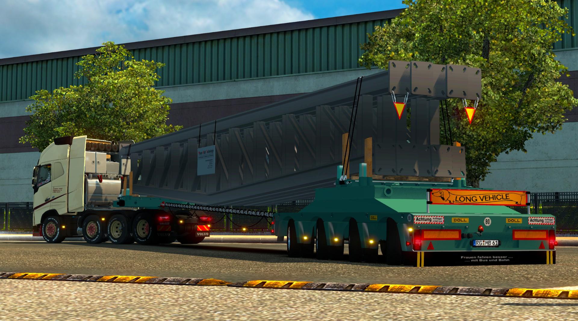 Heavy Load Steel Construction Trailer Mod - Euro Truck