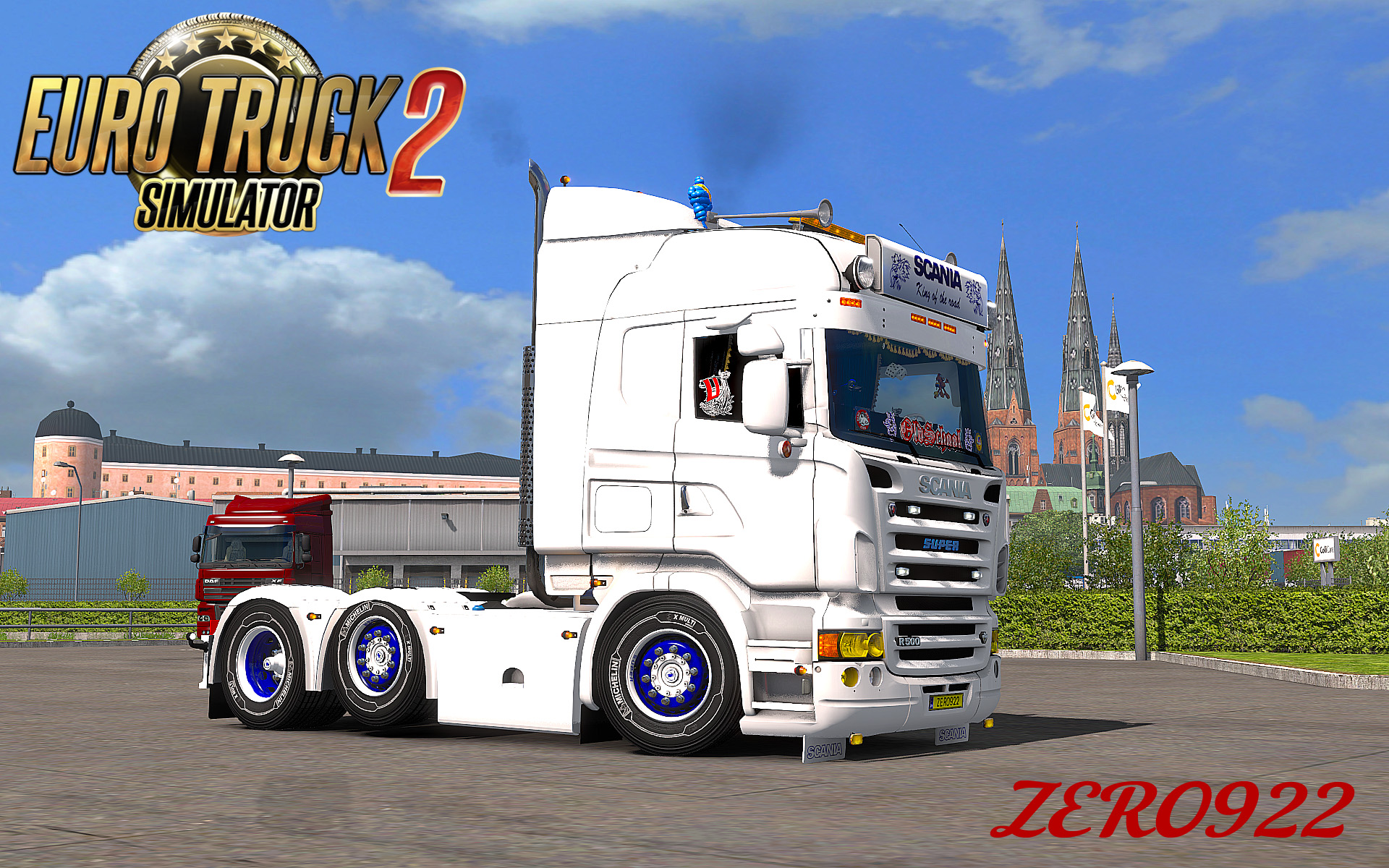 Scania r streamline rjl window sticker mod ets2