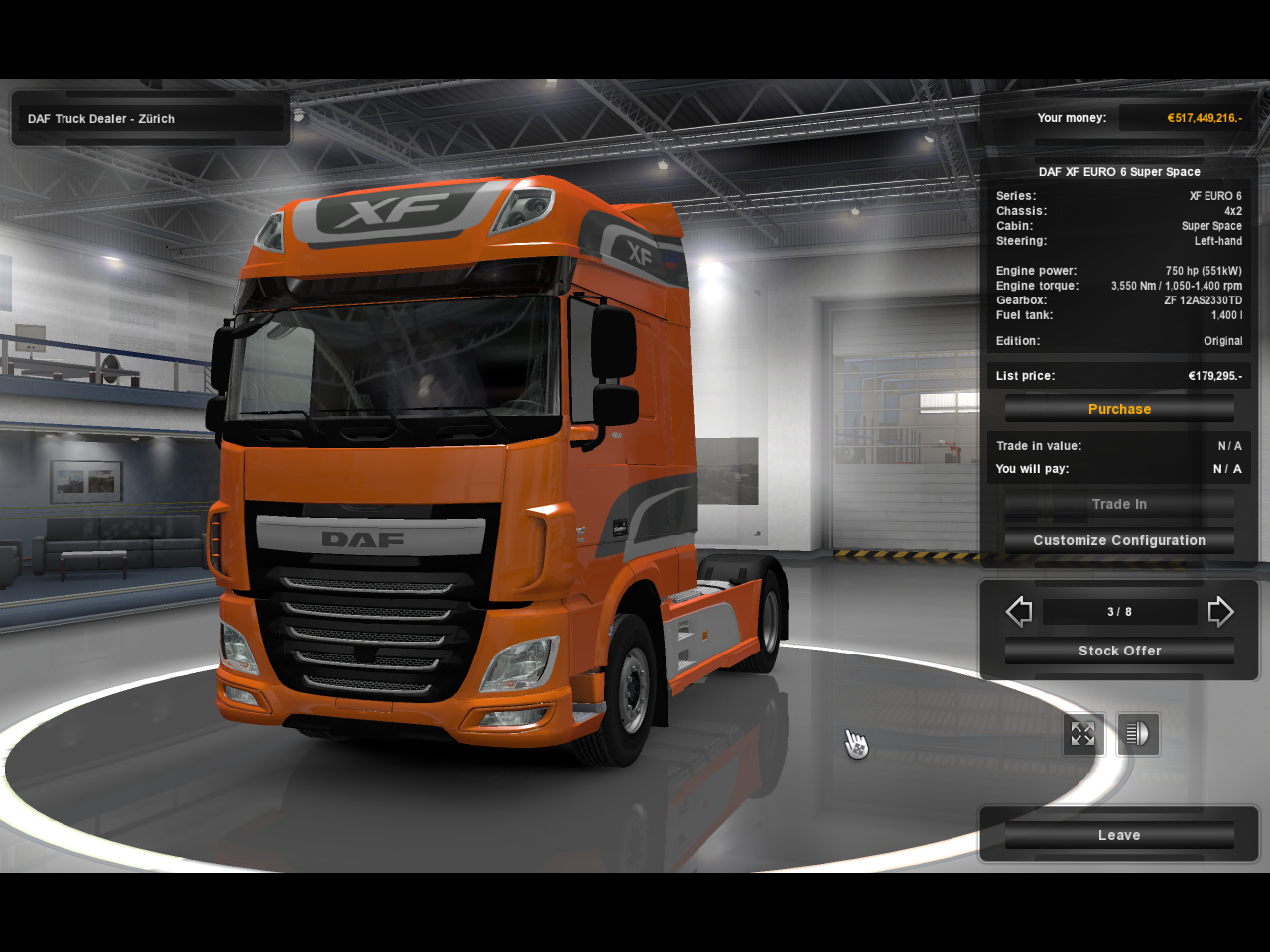 750 HP Engine Mod for all Trucks for Multiplayer ETS2 - Euro