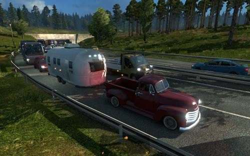 Cars with trailers in AI Traffic for ETS2 1 25 TRAFFIC MOD