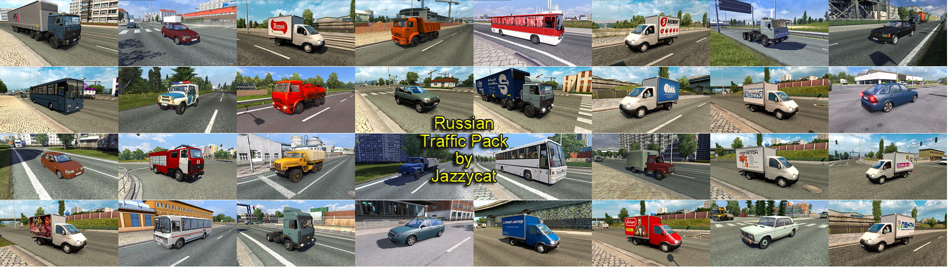 Russian Traffic Pack Mod by Jazzycat v 1 9 ETS2 - Euro Truck