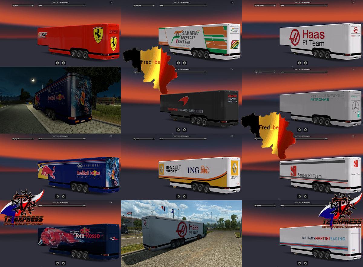 TRAILER PACK AERO DYNAMIC F1 MOD V1 27 (UPDATE) ETS2 - Euro Truck