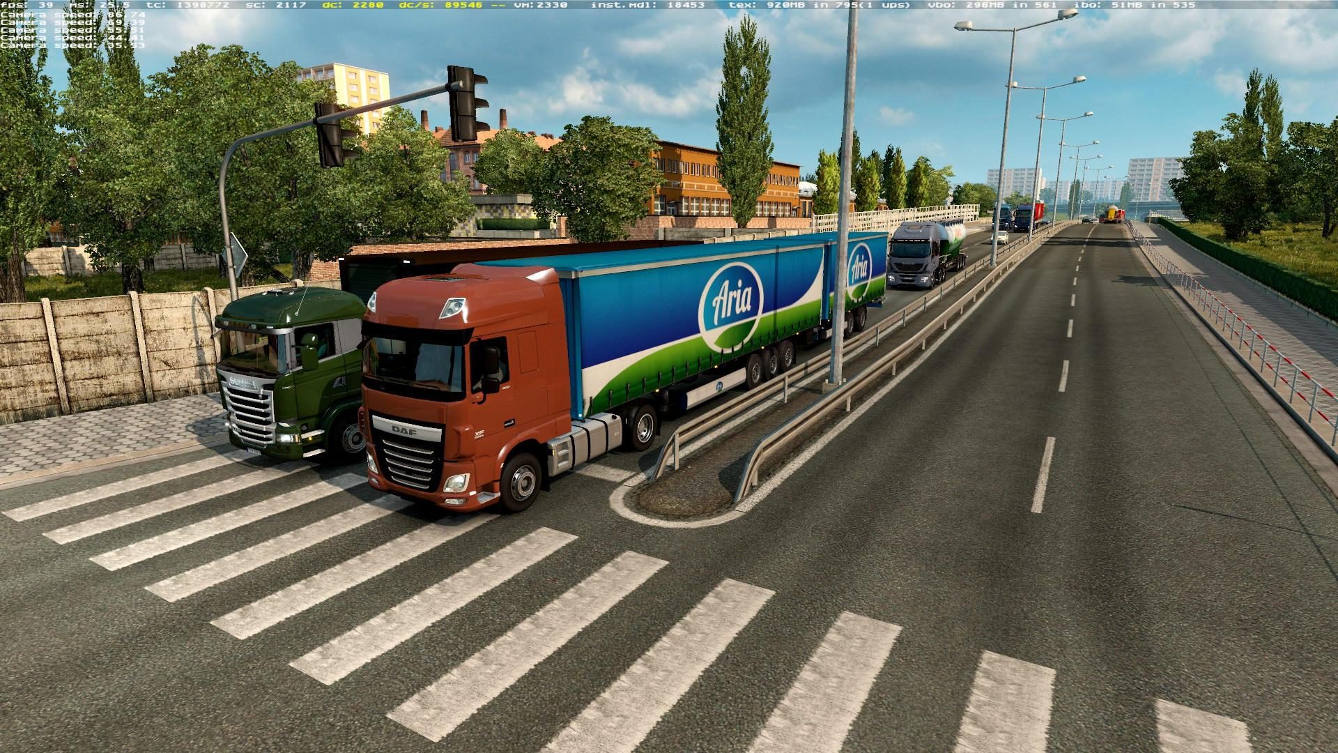 DOUBLE TRAILERS MOD IN TRAFFIC ETS2 [1 28] - Euro Truck Simulator 2