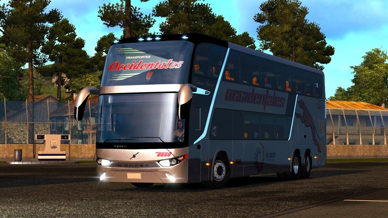 MODASA ZEUS 3 BUS MOD ETS2 1 27 - Euro Truck Simulator 2 mod