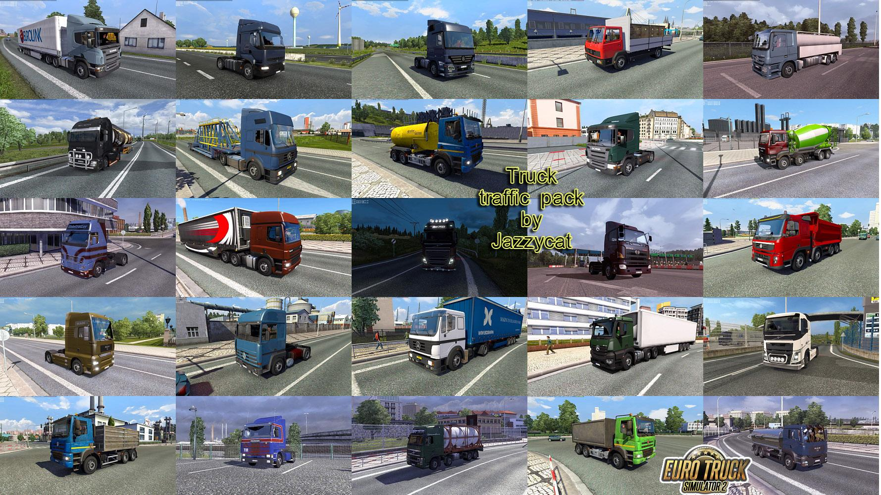 TRUCK TRAFFIC PACK MOD BY JAZZYCAT V2 7 ETS2 - Euro Truck