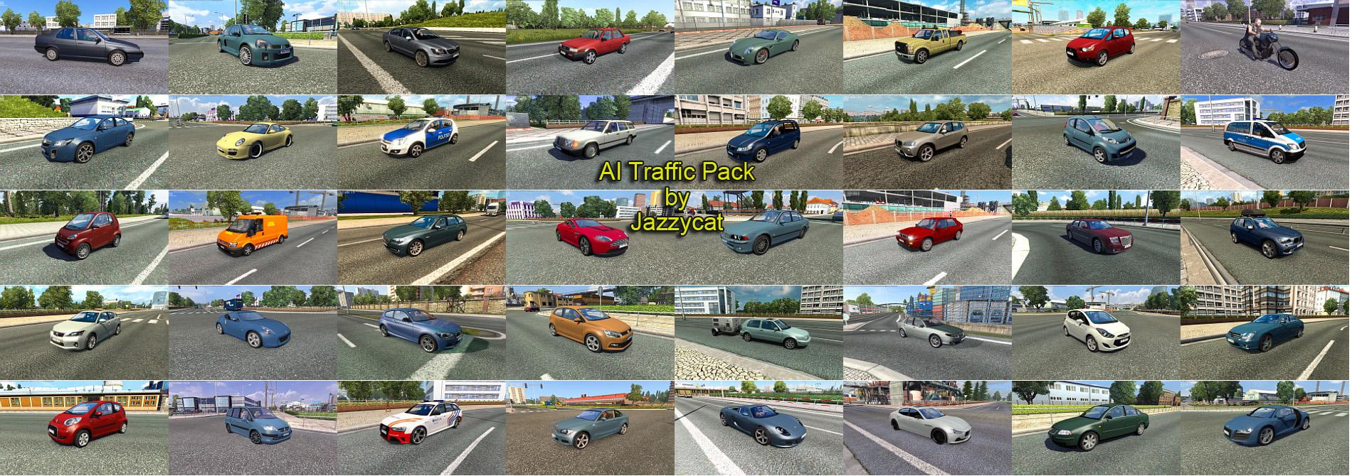 AI TRAFFIC PACK BY JAZZYCAT V 6 1 ETS2 - Euro Truck
