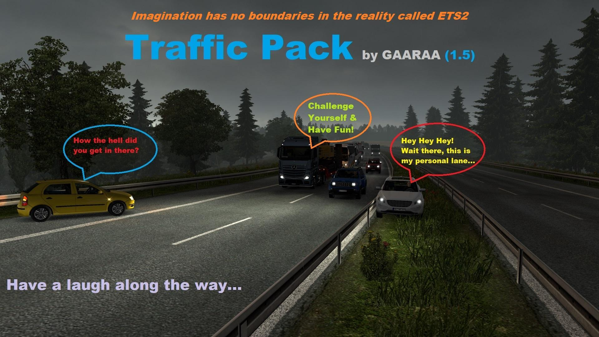Traffic Pack by GAARAA v1 5 ETS2 - Euro Truck Simulator 2 mod / ETS2 mod