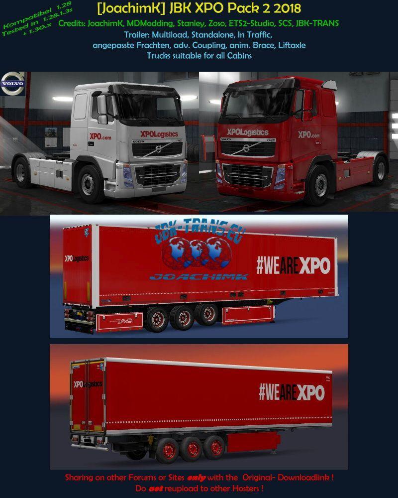 JoachimK] JBK Pack 2 XPO 2018 v1 0 ETS2 - Euro Truck Simulator 2 mod