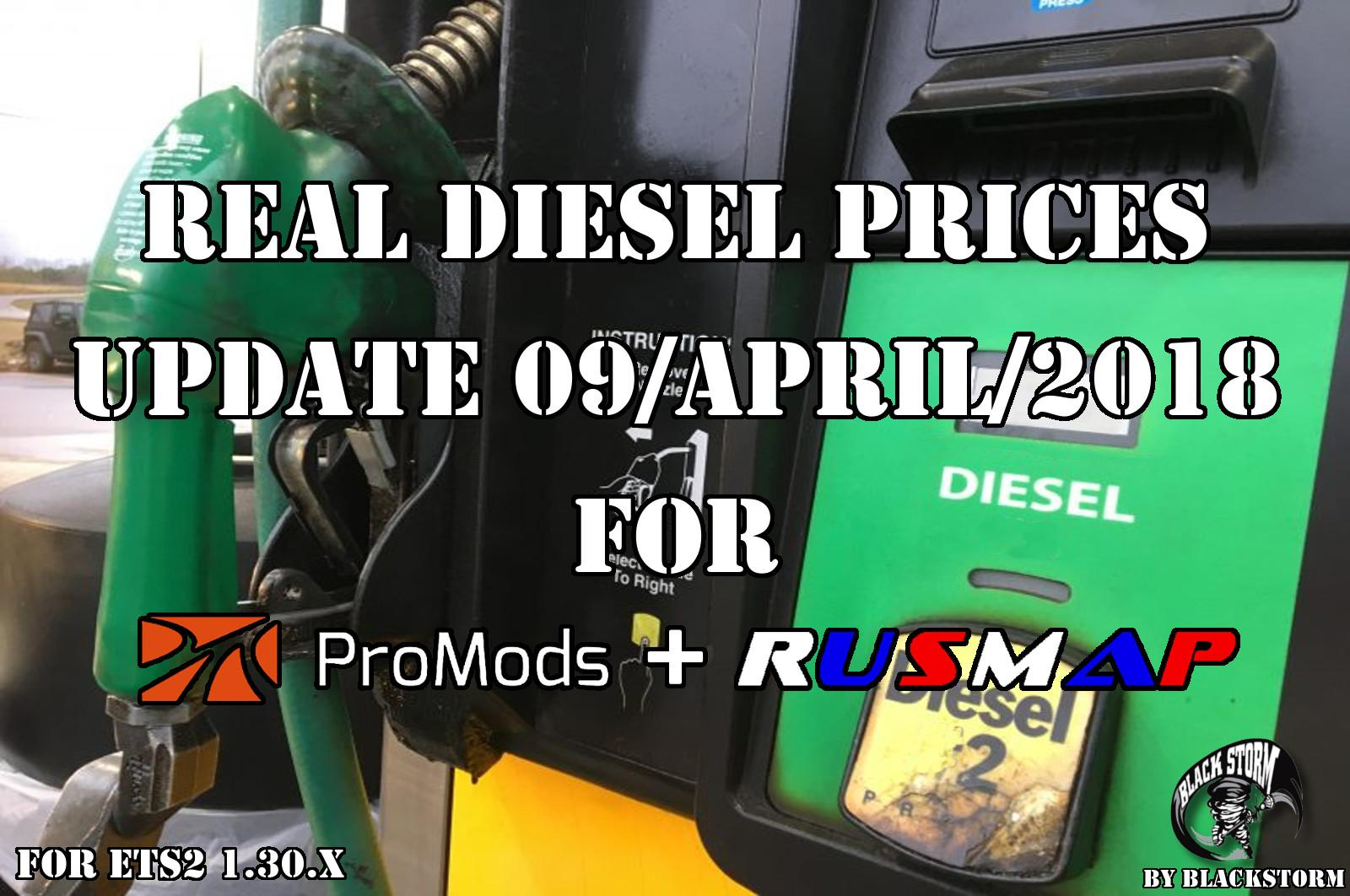 Real Diesel Prices Promods Map 2 26 & RusMap v1 8 ETS2 - Euro Truck