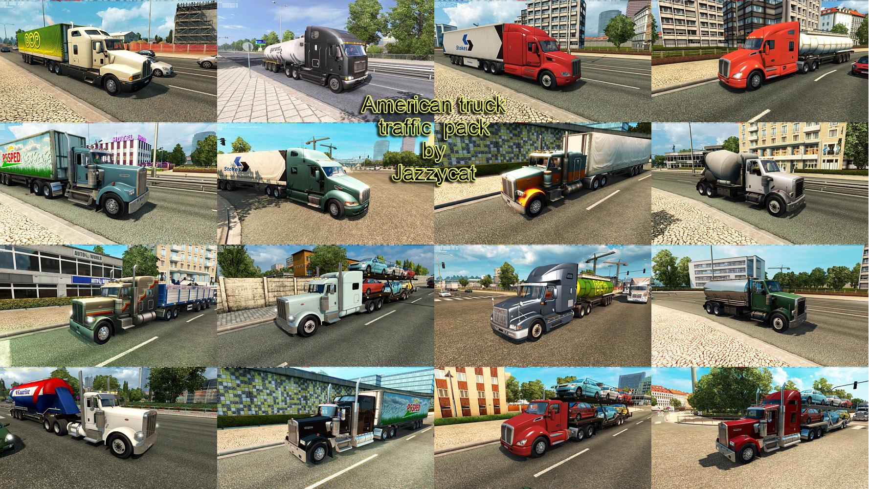 American Truck Traffic Pack by Jazzycat v1 7 ETS2 - Euro