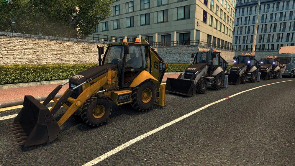 Mechanical shovel in AI Traffic 1 31 ETS2 - Euro Truck