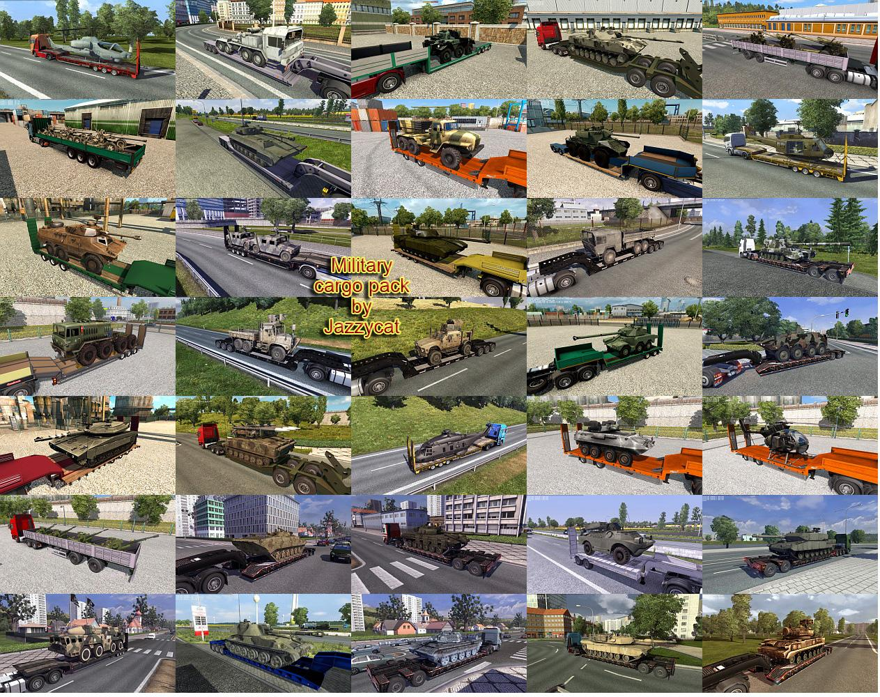 Military Cargo Pack by Jazzycat v2 6 ETS2 - Euro Truck